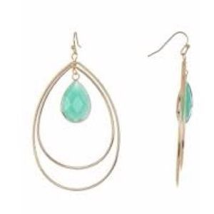 Panacea Stone Tear Drop Dangle Earrings